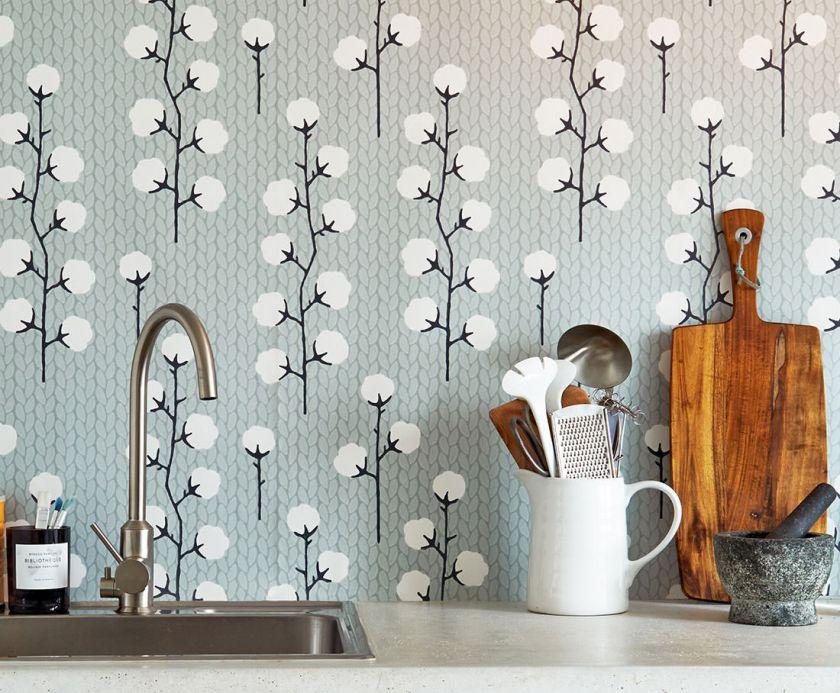 Papel de parede rústico Papel de parede Sweet Cotton cinza negrusco Ver quarto