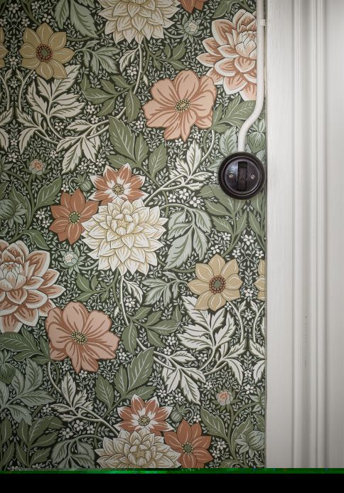 New arrivals! Wallpaper Kerala reed green Room View