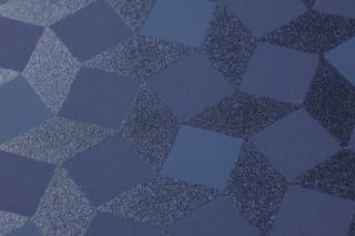 Papel de parede Atropos Padrão mate Superficie base brilhante Quadrados pequenos Azul escuro brilhante Azul acinzentado Azul violeta