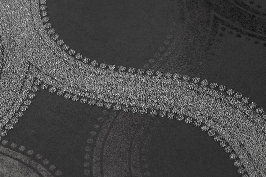 Archiv Carta da parati Alfadur bianco grigio lucido Visuale dettaglio