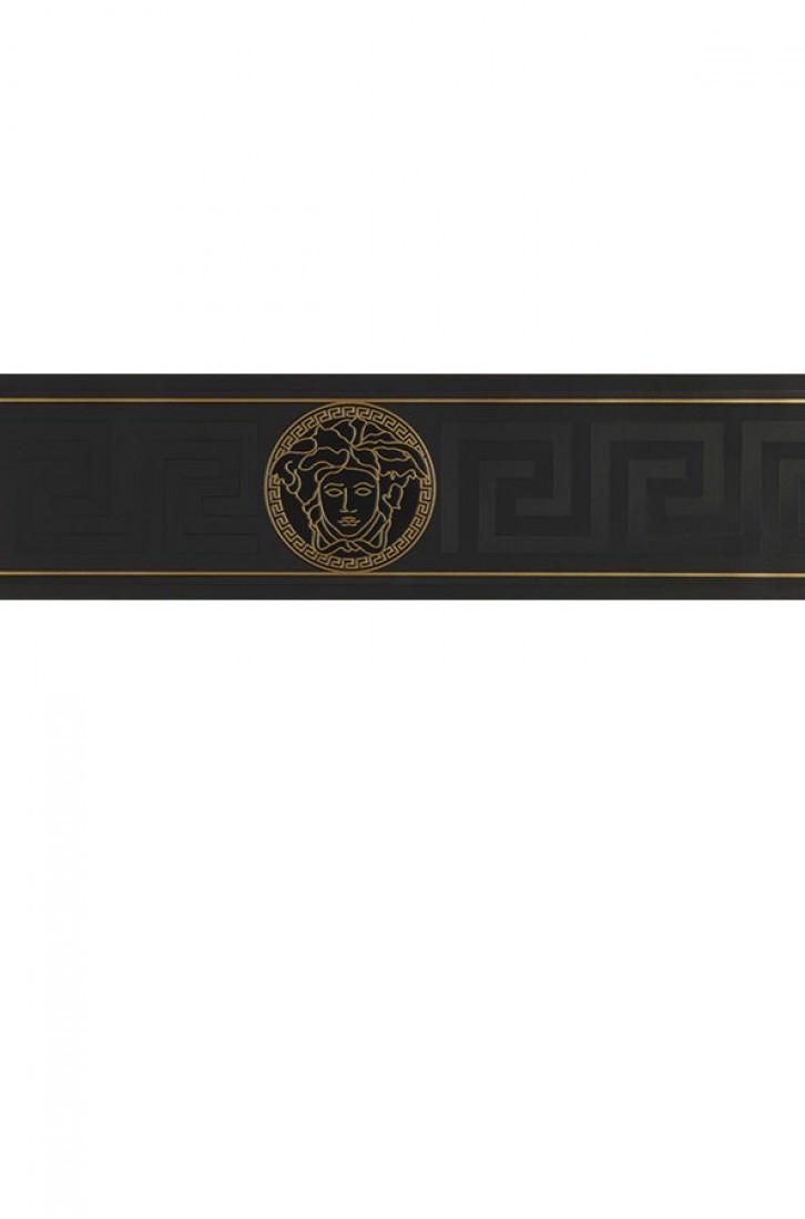 Tapete arabella schwarz gold tapeten der 70er for Tapete gold schwarz