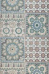 Wallpaper Azulejos grey brown