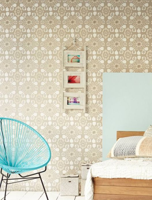 Archiv Wallpaper Rosane grey beige Room View