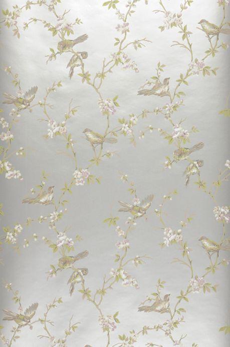 Archiv Wallpaper Thelma white aluminium Roll Width