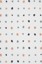 Wallpaper Wukata Matt Dots White Orange brown shimmer Pearl green Black