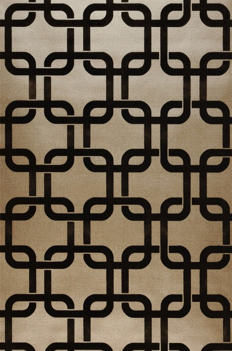 Wallpaper Gizmo Shimmering Retro squares Brown gold Dark brown