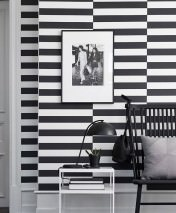 Wallpaper Bagur Matt Cross stripes White Black