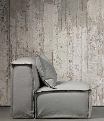 Papier peint Concrete 06 beige gris Vue pièce