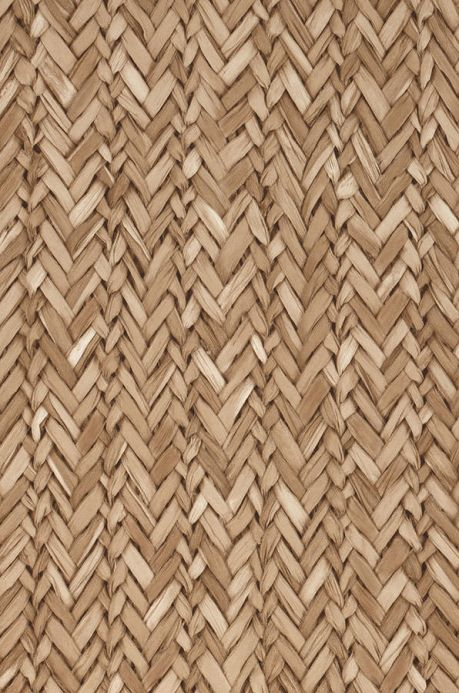 Shabby Chic Wallpaper Wallpaper Rattan Effect pale brown A4 Detail