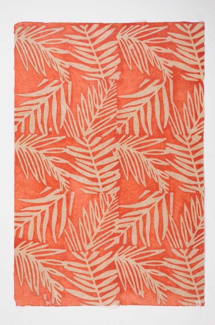 papier peint lhamo orange rouge beige papier peint des ann es 70. Black Bedroom Furniture Sets. Home Design Ideas