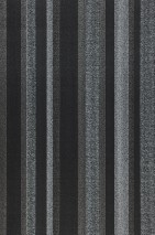 Wallpaper Tekin Matt Stripes Black Granite grey Pearl dark grey White