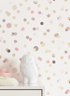 Wallpaper Sally grey beige Room View