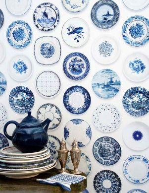 Papel pintado Porcellain 02 azul Ver habitación