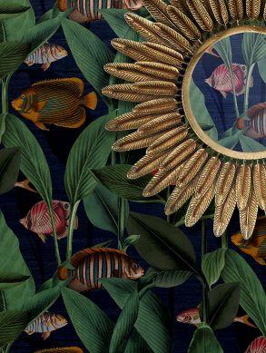 Papel pintado Acuario azul oscuro Raumansicht
