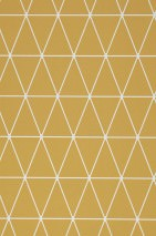 Wallpaper Svarog Matt Triangles Plaid Ochre yellow White