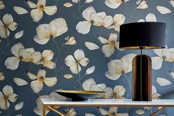 Wallpaper Munroe anthracite grey