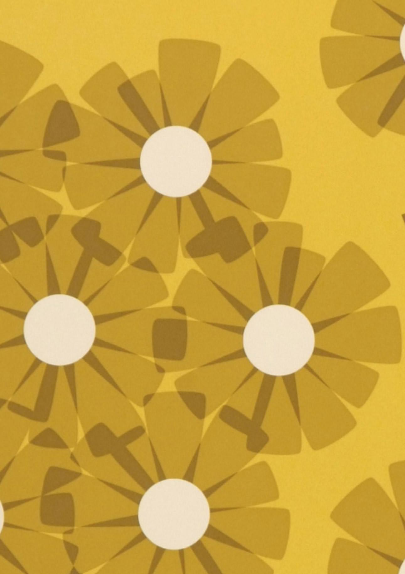 Tapete ostara honiggelb cremeweiss graubraun sandgelb for Tapete nach hause