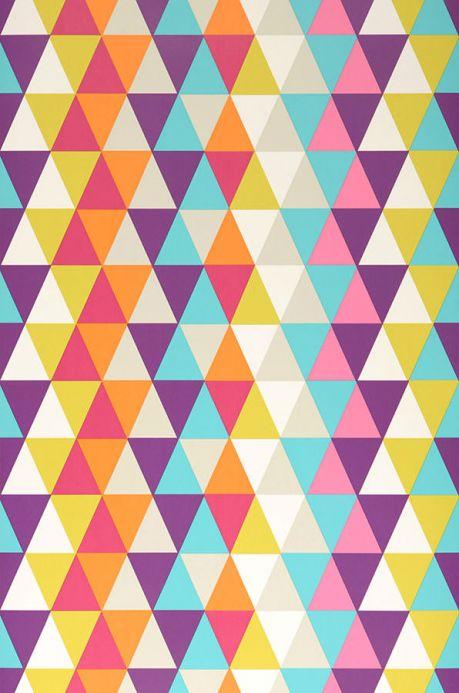 Archiv Wallpaper Kaleidoscope turquoise Roll Width