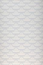 Papier peint Limba Mat Navires Bleu pâle Blanc crème