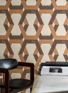Wallpaper Banga chocolate brown Room View