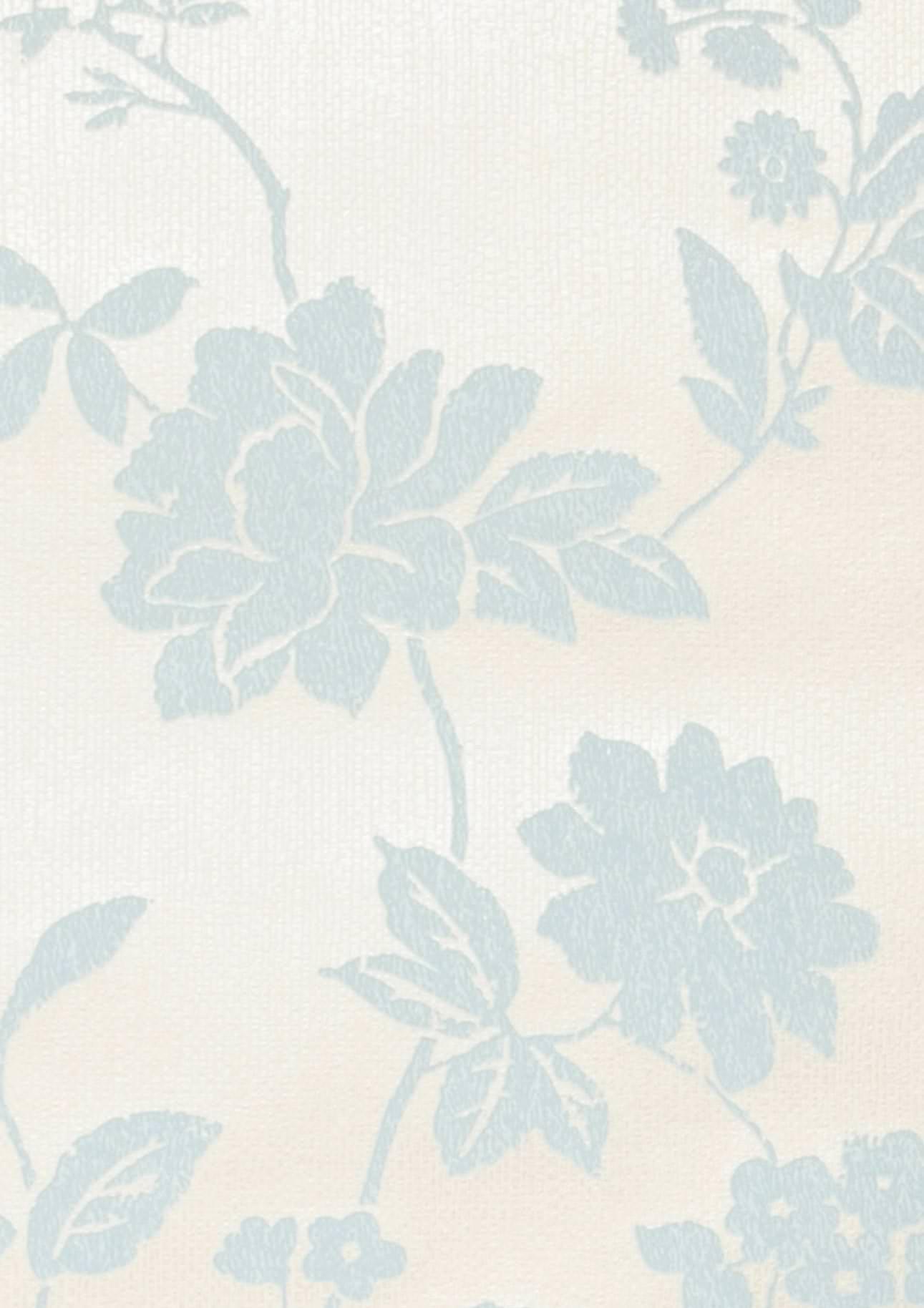 Tapete skadi grauweiss hellblau tapeten der 70er for Tapete hellblau