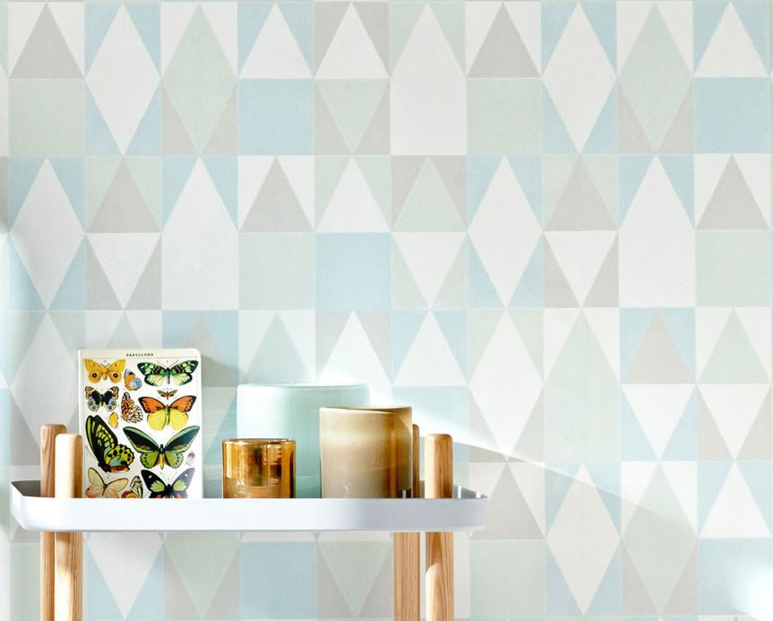Ferm Living Wallpaper Wallpaper Alice pale blue Room View