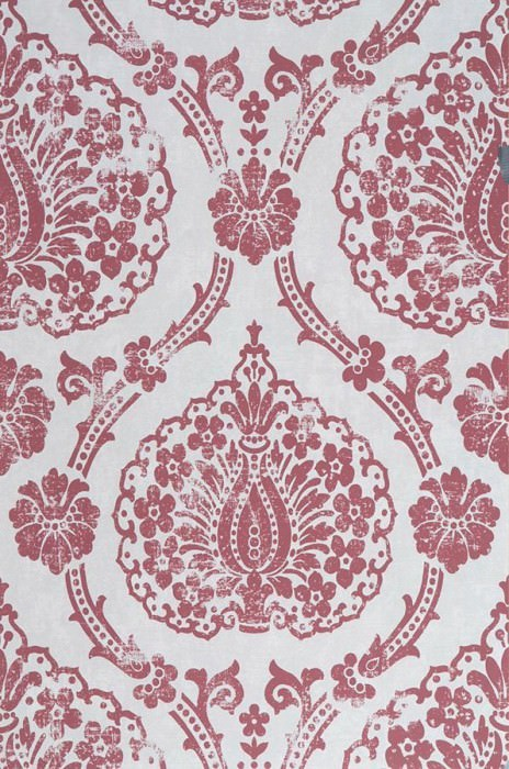 Wallpaper Fidelia Matt Baroque damask Grey white Claret coloured