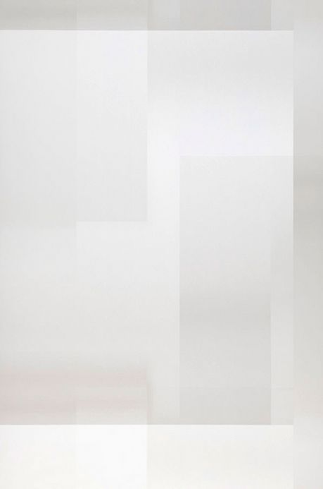 Papier peint géométrique Papier peint Space Odyssey blanc Largeur de lé