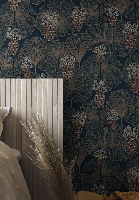 New arrivals! Wallpaper Kagome beige grey Room View