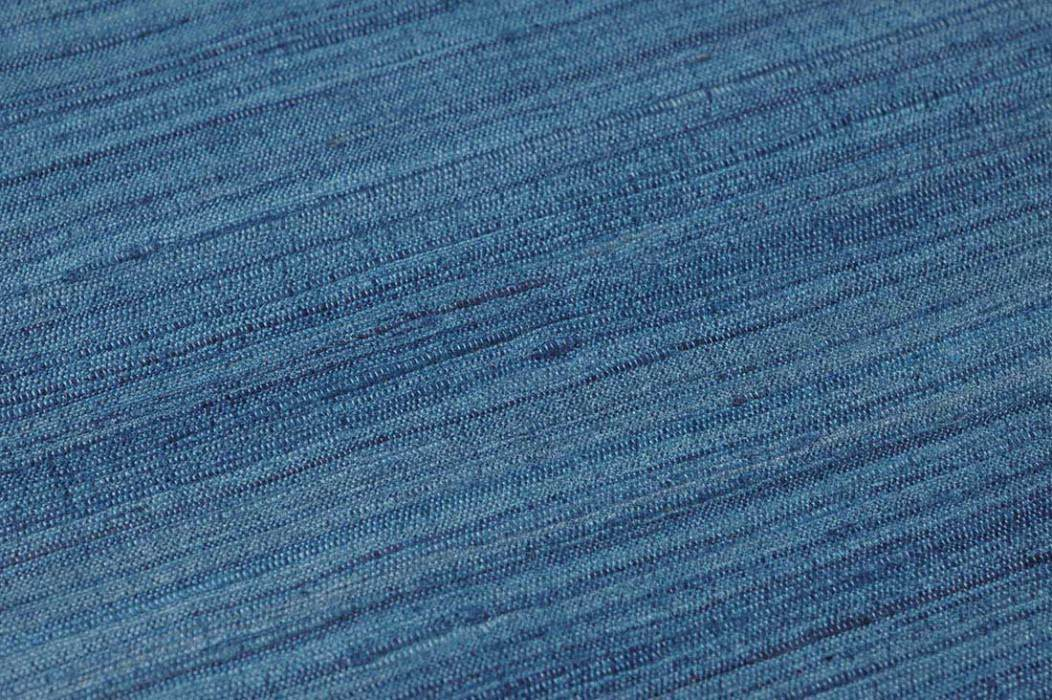 Wallpaper Natural Silk 06 Shimmering Shabby chic Solid colour Blue