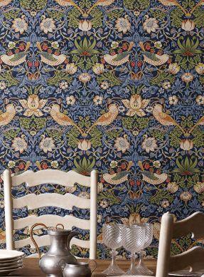 Wallpaper Faunus pigeon blue Room View