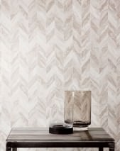 Wallpaper Sassari Matt Graphic elements Imitation marmor Cream Cream shimmer Grey beige