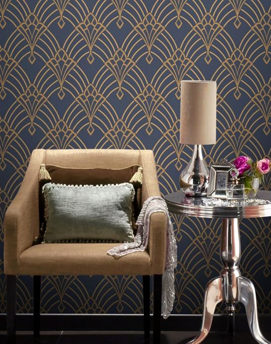 Archiv Wallpaper Windessa pearl gold Room View