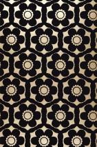 Wallpaper Orischa Matt pattern Shimmering base surface Floral damask Stylised flowers Pearl gold Black violet