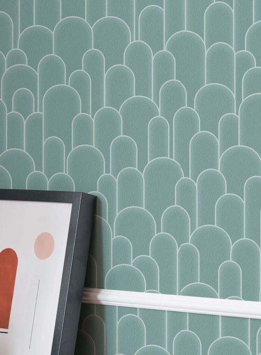 Papel de parede Papel de parede Fabius turquesa pastel Ver quarto