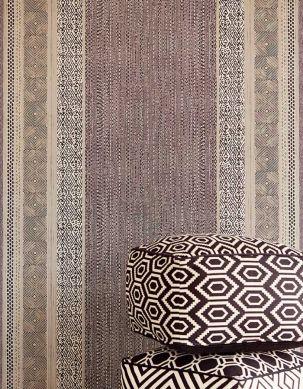 Wallpaper Cemal black grey Room View