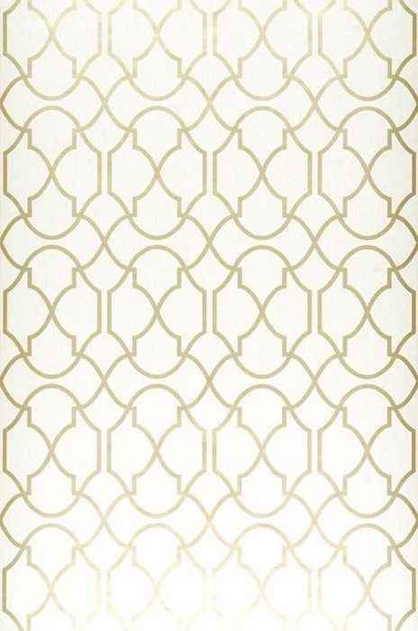 Wallpaper Telenzo Shimmering pattern Matt base surface Modern damask Cream Gold