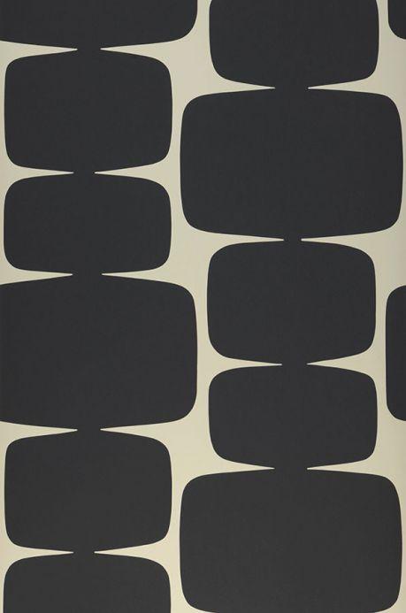 Papier peint géométrique Papier peint Waris noir Largeur de lé
