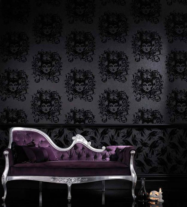 Archiv Wallpaper Venus black Room View