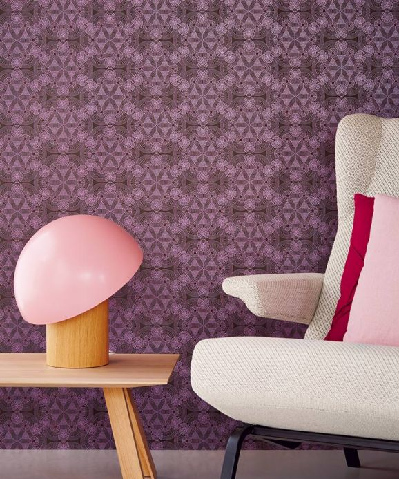 Archiv Wallpaper Imalas red violet Room View