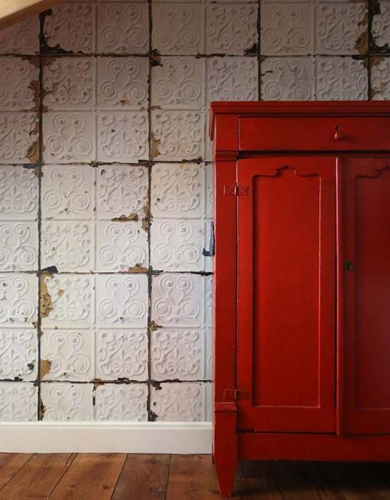 tapete brooklyn tins 02 hellelfenbein blassgrau hellbeigebraun schwarzbraun weiss. Black Bedroom Furniture Sets. Home Design Ideas