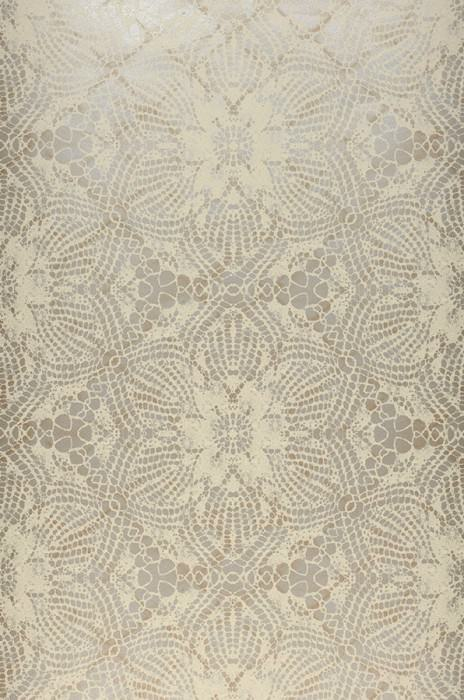 Wallpaper Marrakesh Matt pattern Shimmering base surface African style Floral damask Pearl beige Light ivory
