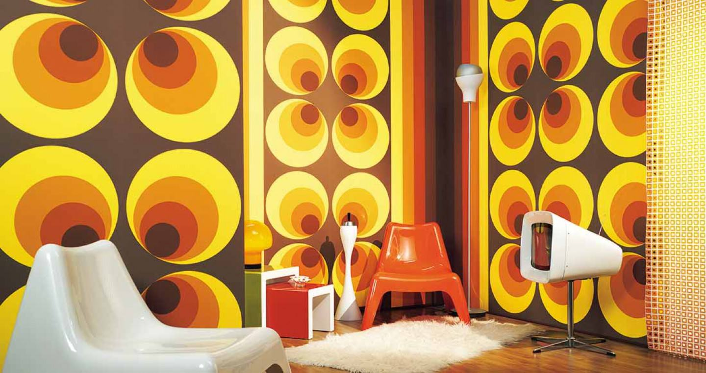 Apollo brown brown yellow orange i love the 70s for Deco maison retro