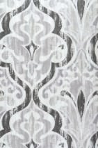 Papel pintado Artio Mate Damasco barroco Blanco grisáceo Gris beige brillante Gris Gris negruzco