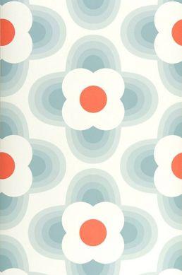 Papier peint Selene bleu gris Largeur de lé