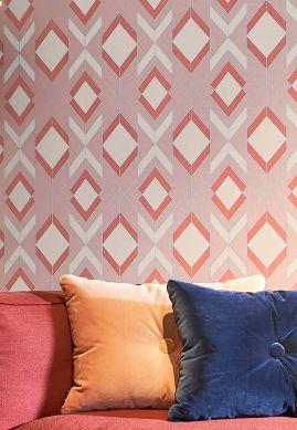 Papel de parede Allegra vermelho marrom Ver quarto