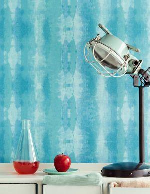 Papel de parede Alika azul turquesa Ver quarto