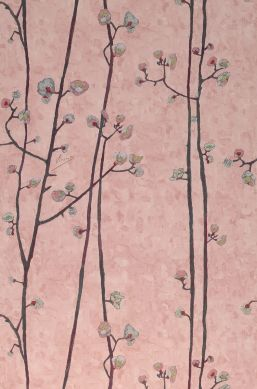 Papier peint VanGogh Branches bois de rose pâle Largeur de lé