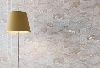 Papel de parede Medea ouro lustre