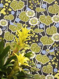 Papel de parede Lisanne verde oliva